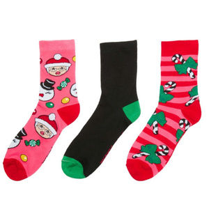 Betsey Johnson Mrs. Claus 3-pack NWT